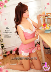 Sweet Pink Message 2 Pcs Cami Lingerie, Asian Lingerie, Sexy Costume, Japanese Lingerie, Lingeriecats