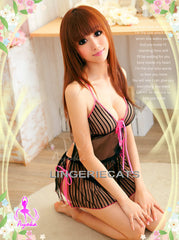 Chic Vertical Stripe Babydoll