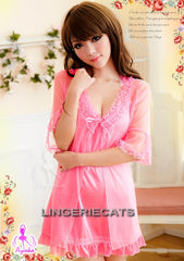 Ruffled Mistyrose Robe