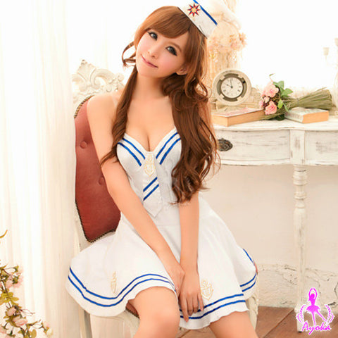 Spicy Police Costume Uniform Blue Set