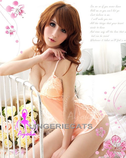 Enchanting Rayon Chemise Set - LingerieCats