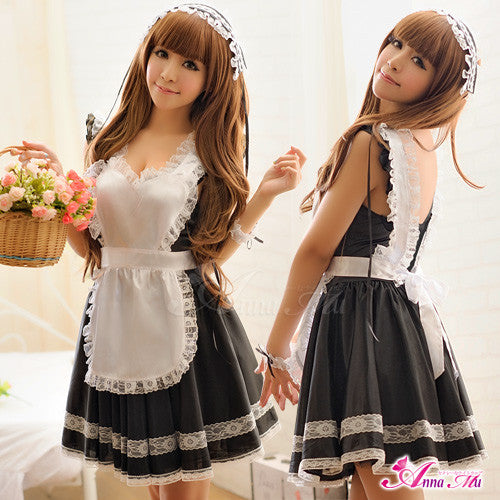 Lingeriecats Sexy Tender Chary Maid Outfit Cosplay Costume Set