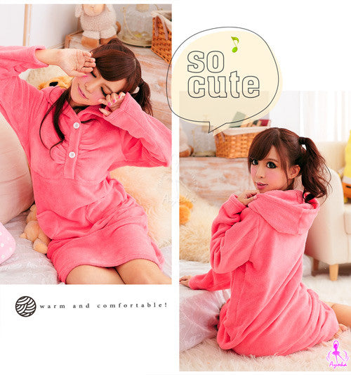 Lovely Hooded Pajama Dress