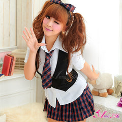Lingeriecats Sexy Youthful Frisky School Daring Uniform Cosplay Costume Set