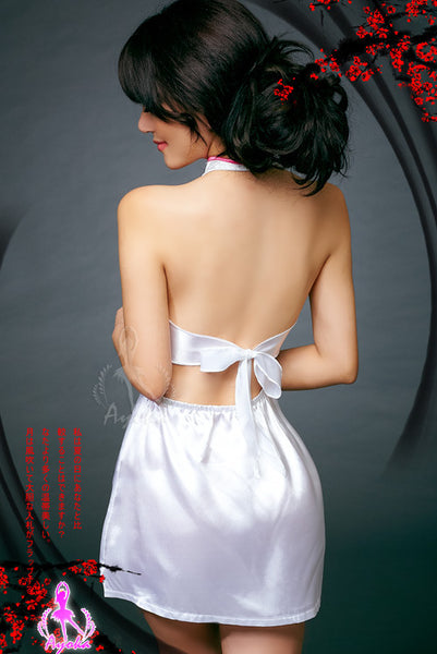 Sexy Hot White Backless Clubwear Short Dress