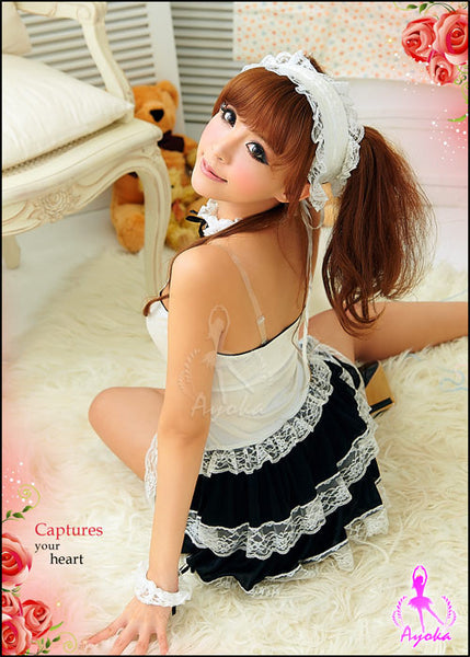 Fantasy 6Pcs Maid Costume - LingerieCats