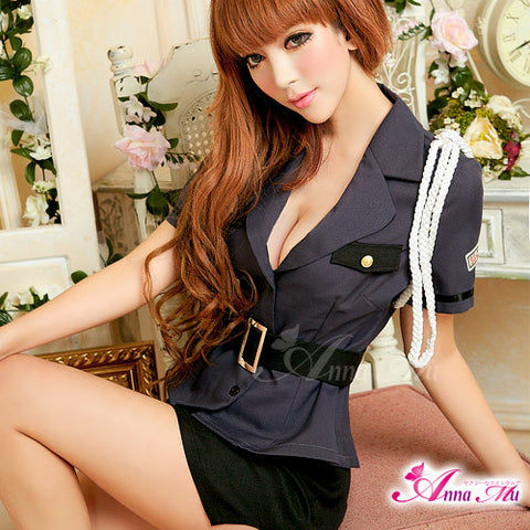 Lingeriecats Sexy Sexy Police Officer Outfit Cosplay Costume Set - LingerieCats