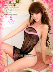 Sexy Ties at Back Babydoll - LingerieCats