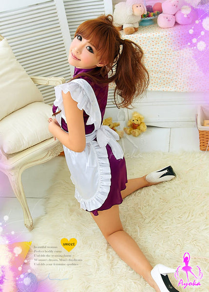 (Discn't) Varied 2Pcs 2 Styles Maid Cheongsam Costume - LingerieCats