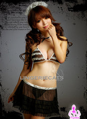 Sweet Dessert 5 Pcs Maid Bikini Costume Set