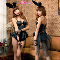 Lingeriecats Sexy Haughty Bunny Girl Outfit Cosplay Costume Set - LingerieCats