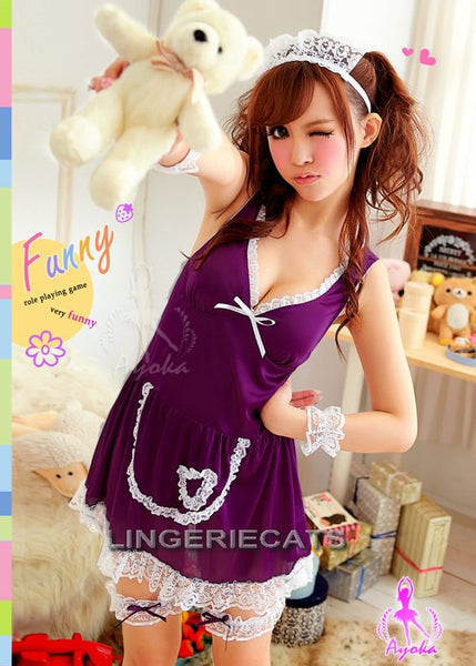 Maid Temptation 7 Pcs Costume, Sexy Costume, Asian Lingerie, Japanese Lingerie, Sexy French Maid, Halloween Costume, Costume online shop, Lingeriecats