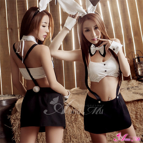 Lingeriecats Sexy Playful Bunny Girl Outfit Cosplay Costume Set - LingerieCats