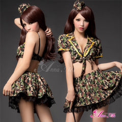 Lingeriecats Sexy Camouflage Amry Cosplay Costume Set - LingerieCats