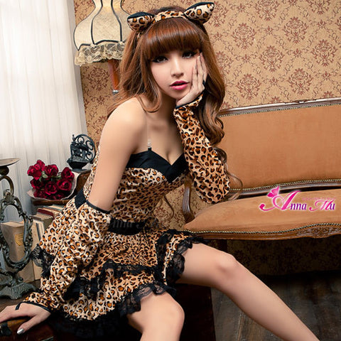 Lingeriecats Sexy Liopard Vivid Kitty Party Animal Costume