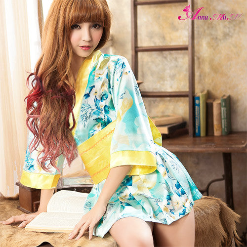 Lingeriecats Sexy Summer Breeze Japanese kimono outfit cosplay costume set. - LingerieCats