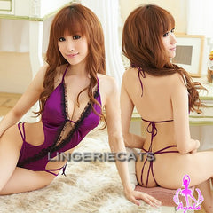 Purple Indulgence Teddy - LingerieCats