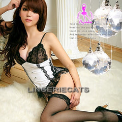 Classical Elegance 4 Pcs Corset Set, Asian Lingerie,  Lingeriecats, Asian Lingerie, Sexy Corset