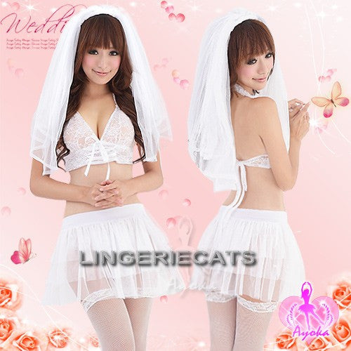 Sexy Enchanting Bridal Costume Set - LingerieCats