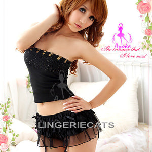 Heather Suspender Set - LingerieCats