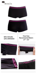 Lingeriecats Women's Short Cut Seamless Sports Box Briefs Underwear