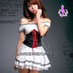 Sleek Maiden Costume, Asian Lingerie,  Lingeriecats, Asian Lingerie, Maid Costumes