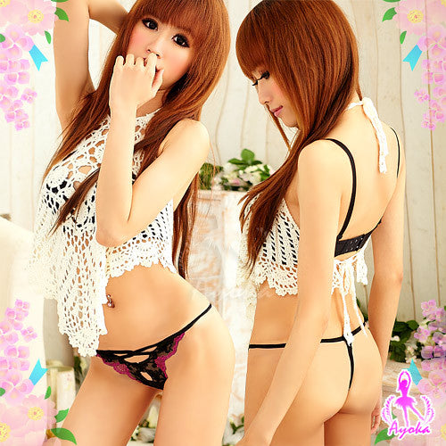 Adorable Mate 3 Pcs G-string Set - LingerieCats