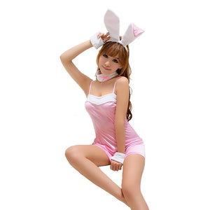 LINGERIECATS Sexy Classic 4pcs Bunny Girl Outfit Cosplay Costume Set - LingerieCats