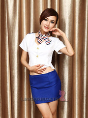 Sexy Flight Attendant Cosplay Costume - LingerieCats
