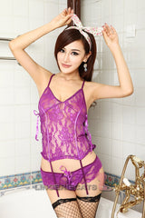 Sexy Purple Angel See-Through Lingerie - LingerieCats
