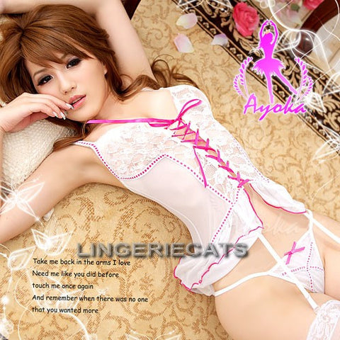 Gorgeous Sheer Corset Set - LingerieCats