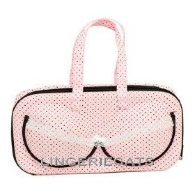 Cute Pink Dot Bra Travel Bag - LingerieCats