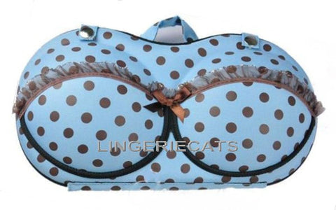 Cute Sky Blue Bra Travel Bag - LingerieCats