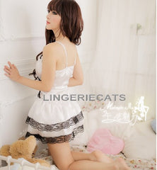 Sexy Lolita Princess Clubwear Costume White Dress - LingerieCats