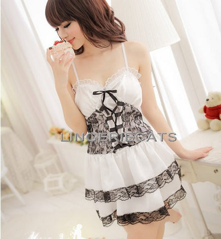 Sexy Lolita Princess Clubwear Costume White Dress