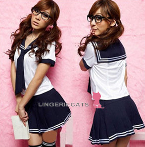 Sexy & Cute School Girl Costume Lingerie Uniform - LingerieCats