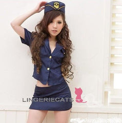 Sexy Blue Police Costume