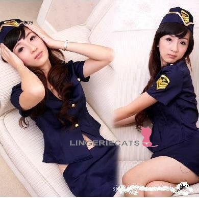 Sexy Blue Police Costume - LingerieCats