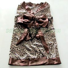 Sexy Leopard Japanese Kimono Style Lingerie Robe - LingerieCats