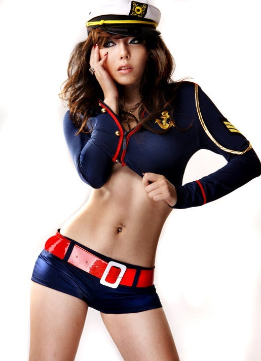 Spicy Police Costume Uniform Blue Set - LingerieCats
