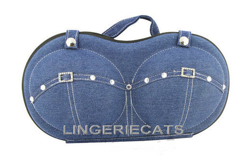 Bra Blue Jeans Travel Bag