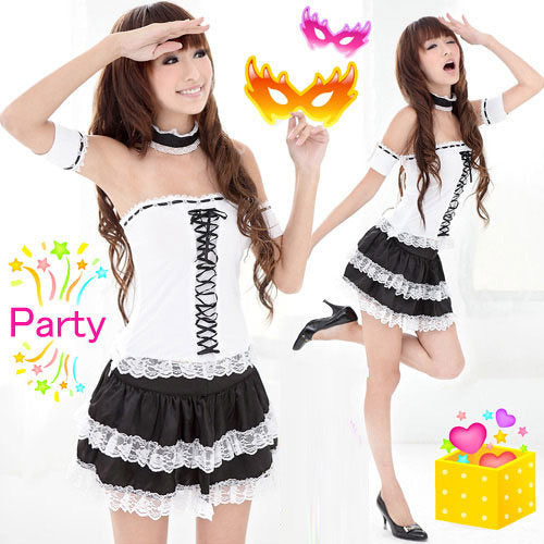 White French Maid Clubwear Costume Dress - LingerieCats