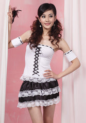 White French Maid Clubwear Costume Dress
