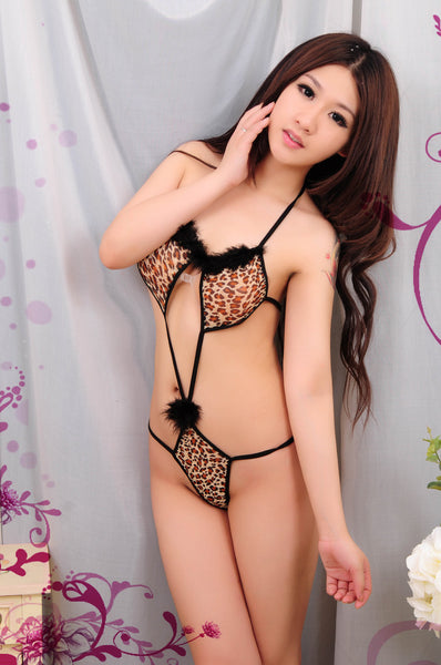Sexy Leopard Chemise Lingere