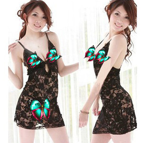 Cute Leopard Lingerie Short Dress with Ear Headpiece