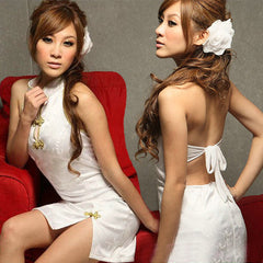Hot White Backless Clubwear Short Dress - LingerieCats