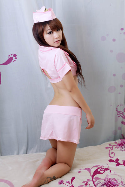 Sexy Pink Police Costume Lingerie - LingerieCats