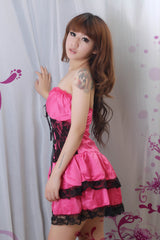 Sexy Lolita Princess Clubwear Costume Red Dress - LingerieCats