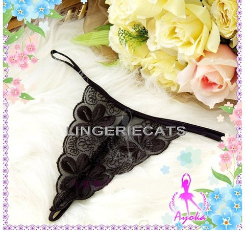 Refined Embroidery G-string Set