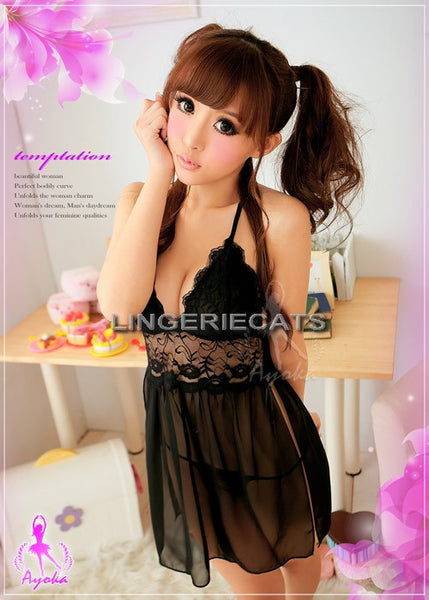 Sheer Seduction 2 Pcs Babydoll - LingerieCats